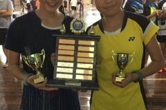 2019 U13 Australian Championships Girls Doubles Winners Sydney Tjonadi & Catrina Tan