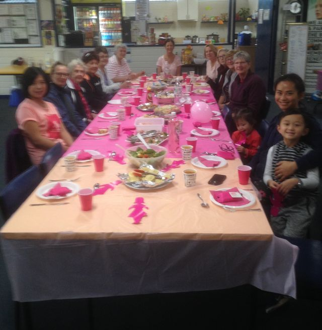 Our Monday Morning Social Ladies had a Biggest Morning Tea to raise awareness for Breast Cancer.