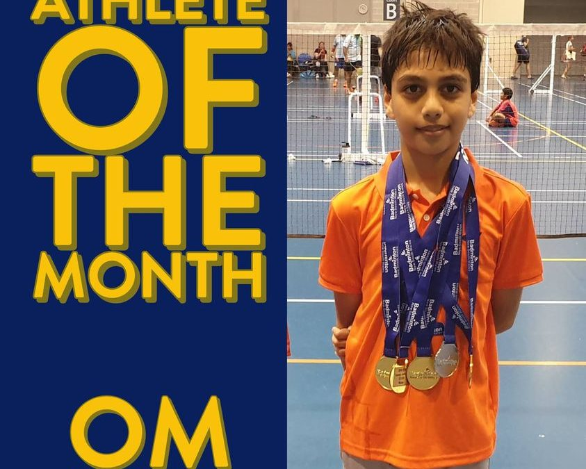 Congratulations to WSBA Member, Om Neelam, Badminton Australia's Athlete of the Month